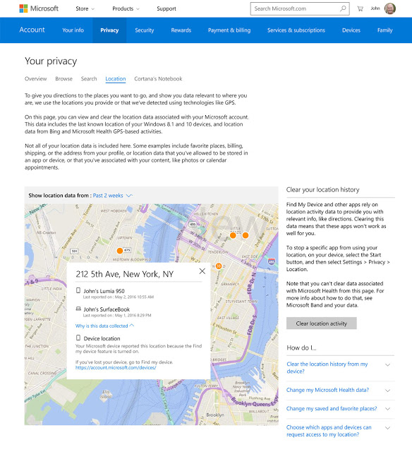Manage your Data with new on web Privacy Dashboard