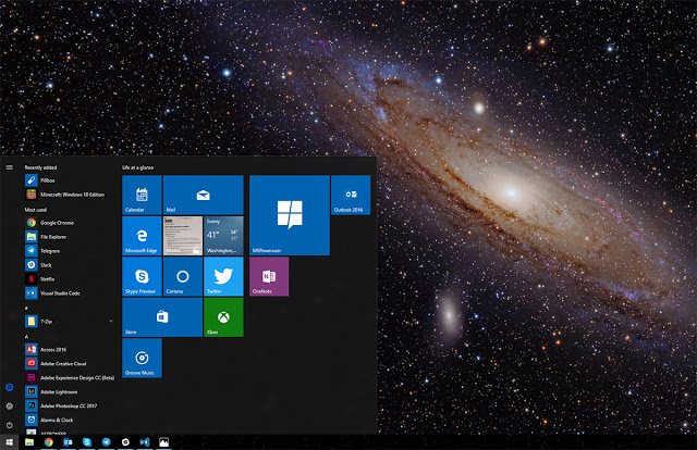 New ANDROMEDA desktop experience for Windows 10 Devices
