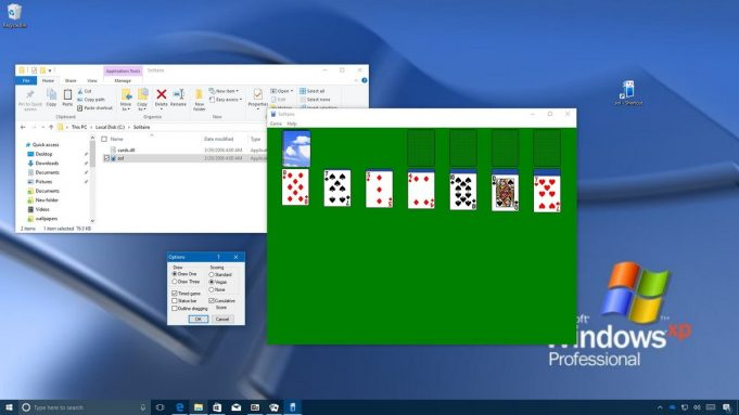 Solitaire on W10