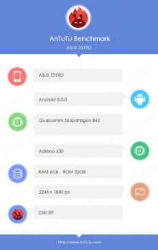 ASUS Z01RD Flagship Spotted on AnTuTu, Likely Zenfone 5