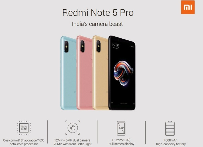Xiaomi Redmi Note 5 and Redmi Note 5 Pro Specifications [Official Notice]