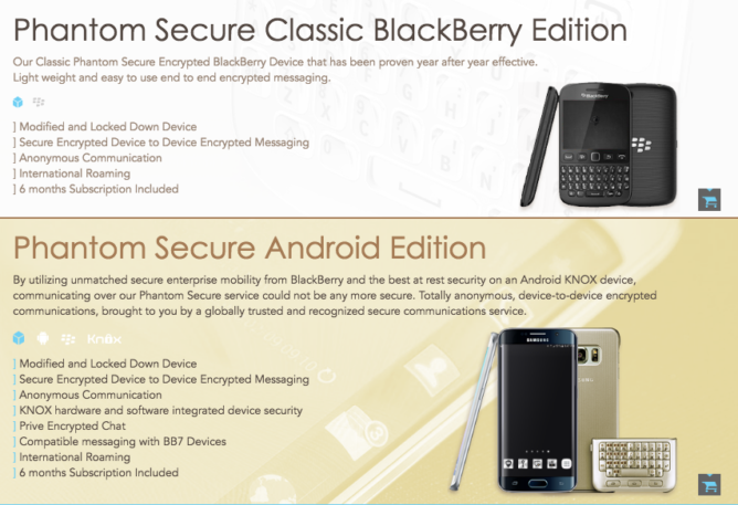 Blackberry Phones - Phantom Secure CEO