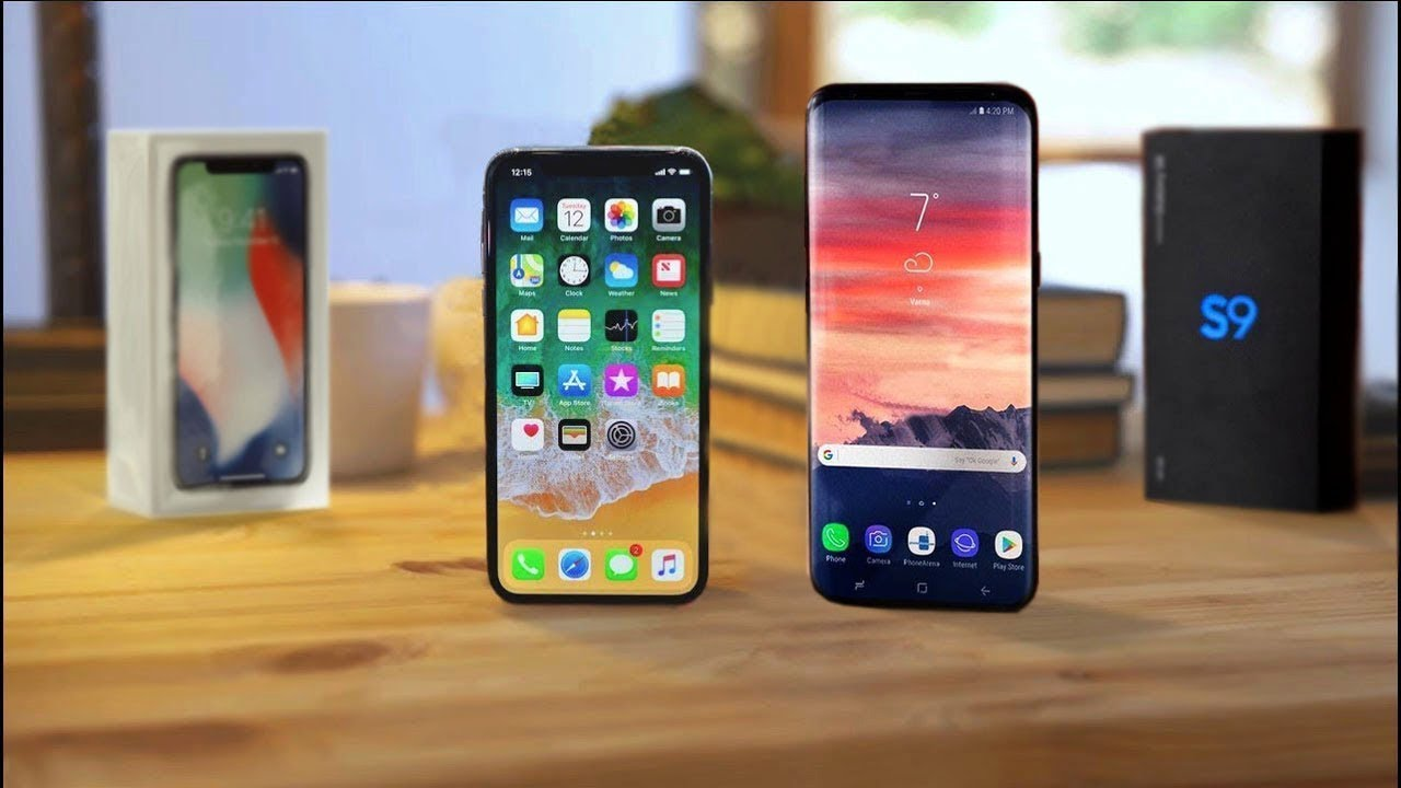 Samsung Galaxy S9 vs iPhone X 2