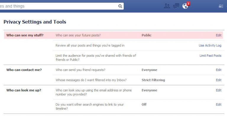 How to access the new Facebook privacy settings